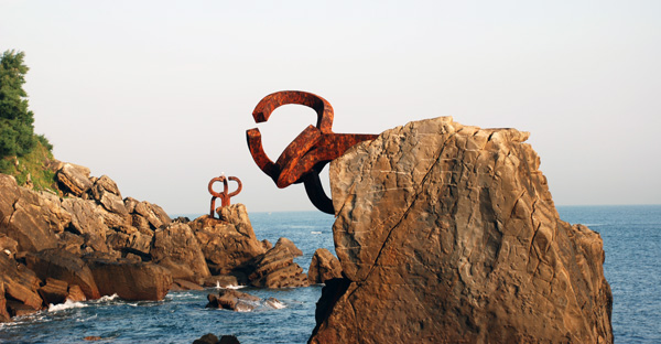 Windkämme von Chillida in San Sebastián