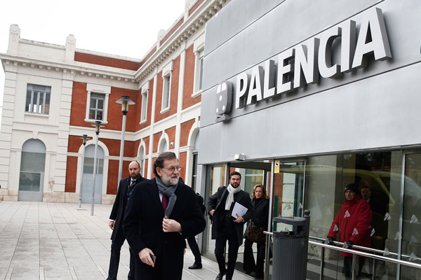 Rajoy 2018 in der Stadt Palencia, Foto Moncloa